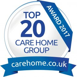 Top 20 Care Home Group Award Winner 2017